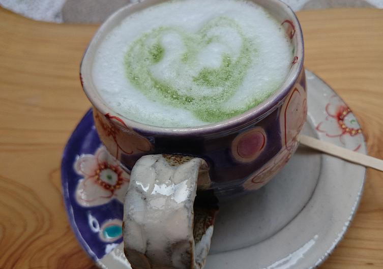 抹茶 ハート カフェ